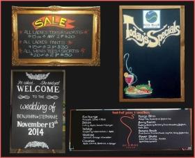 assorted chalkboard