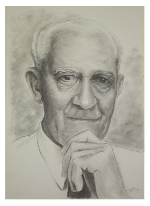 """Portrait of Australian war hero """"Digger James""""."""