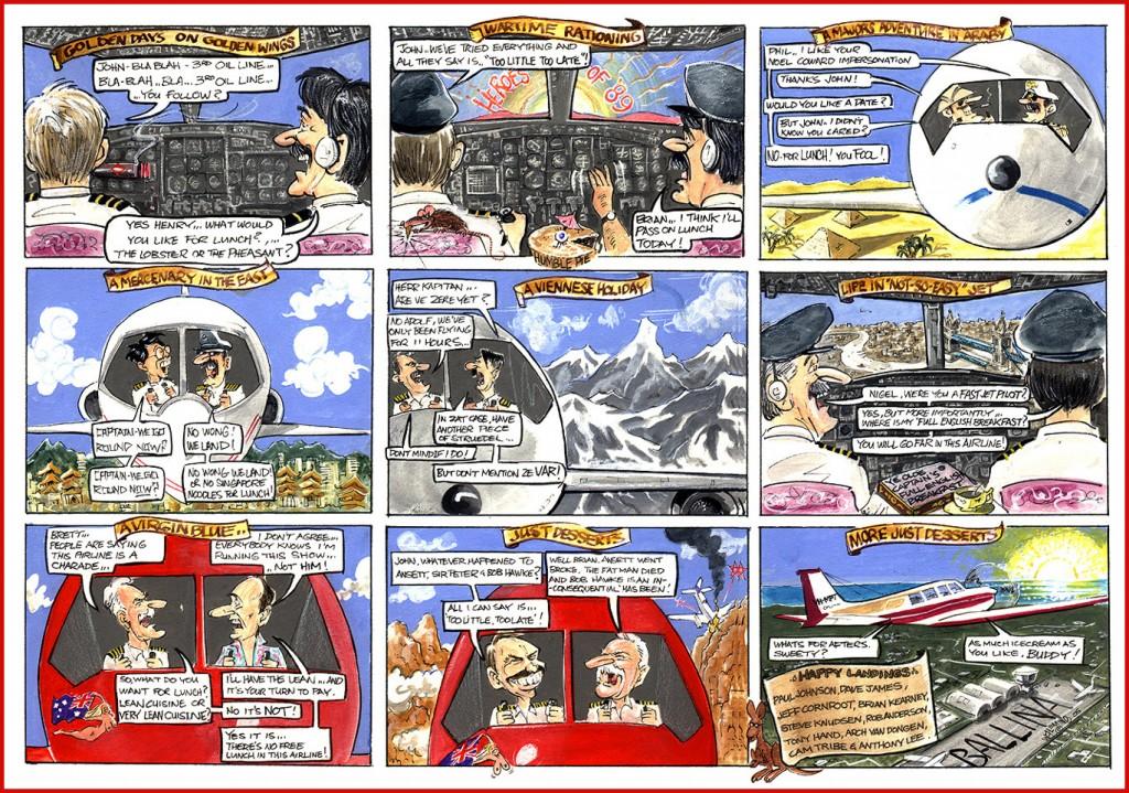 Cartoon comic strip virgin airlines