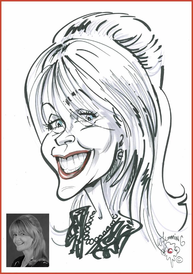Head and shoulders cartoon caricature
